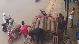 لحظه انفجار پمپ بنزین در کامبوج + فیلم