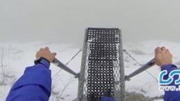 ویدئویی وحشتناک از سقوط آزاد به درون مه غلیظ !