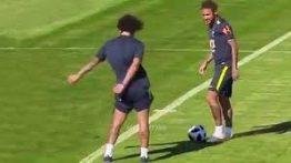 لحظات جالب و طنز ستارگان فوتبال در تمرینات