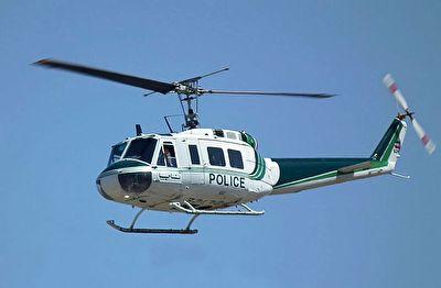 فرود هلیکوپتر پلیس در یکی از اتوبانهای تهران در عملیات تعقیب و گریز!