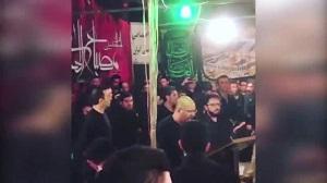 فیلم   مداحی صداپیشه جناب خان در هیئت خوزستانیها