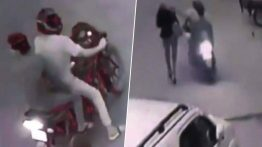 لحظه سرقت تلفن همراه خبرنگار زن در خیابان + فیلم
