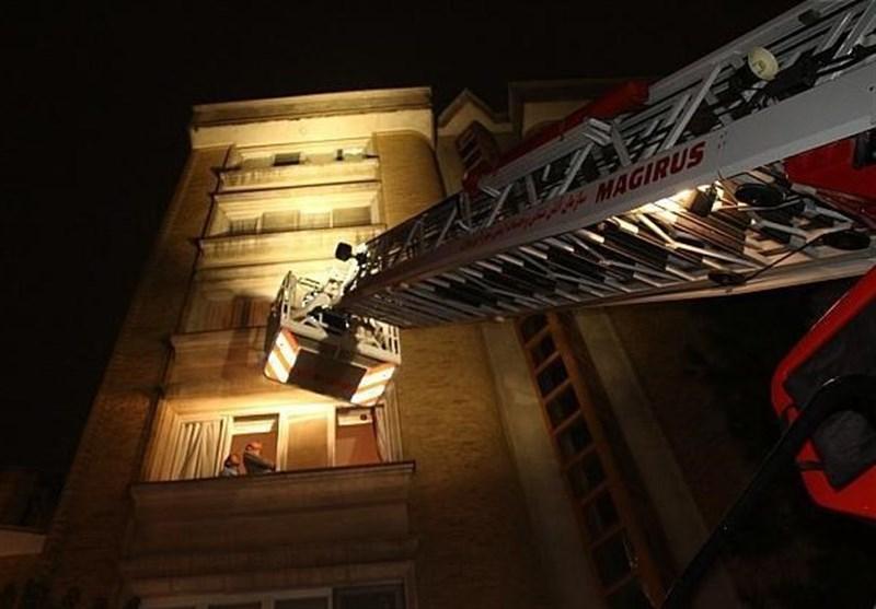 حبس ۲۰ نفر به خاطر آتشسوزی L۹۰ در سعادتآباد + تصاویر