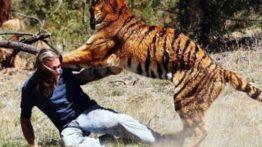 حمله حیوانات وحشی به انسان کلیپ جالب و دیدنی