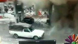 لحظه انفجار وحشتناک دیروز در پمب گاز پاوه