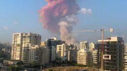 انفجار شدید بندر بیروت لبنان